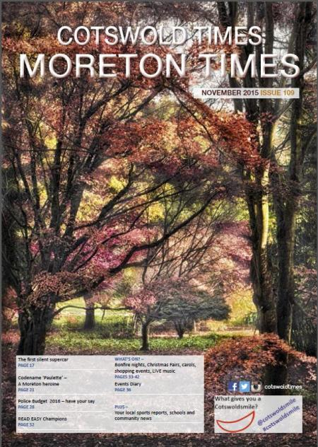 Front page of Moreton Times - November 2015